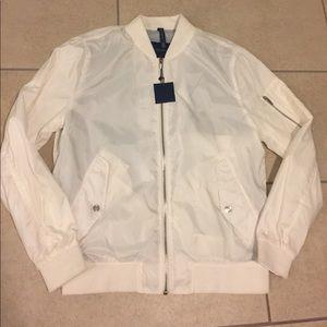 White bomber jacket by ZARA. Size LARGE.